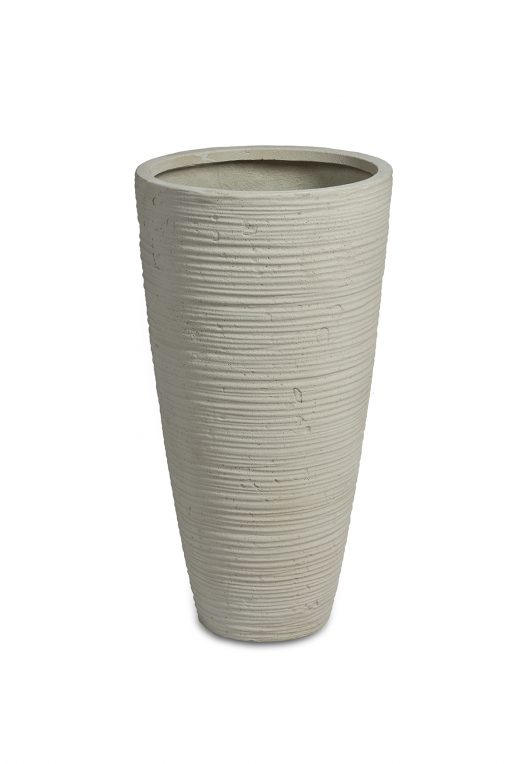 Curved Vase White Washed