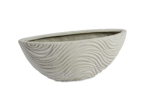 Graphic Oval White Washed