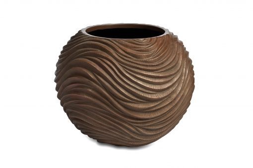 Graphic Round Bowl Bronze