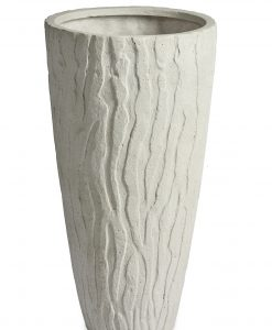 Pattern Vase White Washed